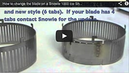How to change the blade on a Snowie 1000 Ice Shaver, Shaved Ice Machine
