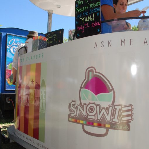 Shaved Ice Natural, Kiosk, Logo, Concession Stand