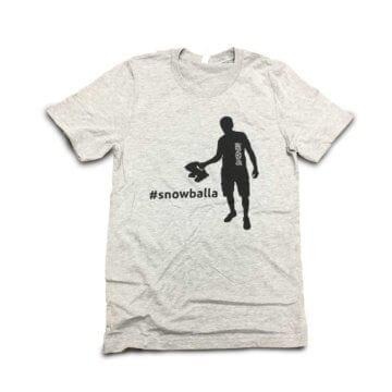 Snowballa T-Shirt Gray Front
