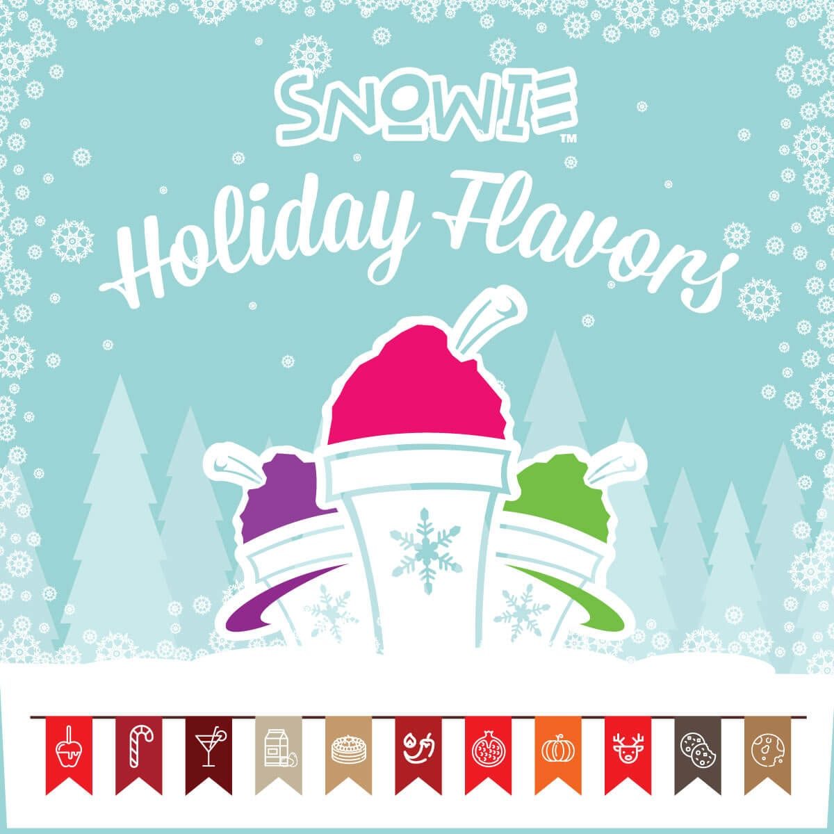 Snowie Holiday Flavors