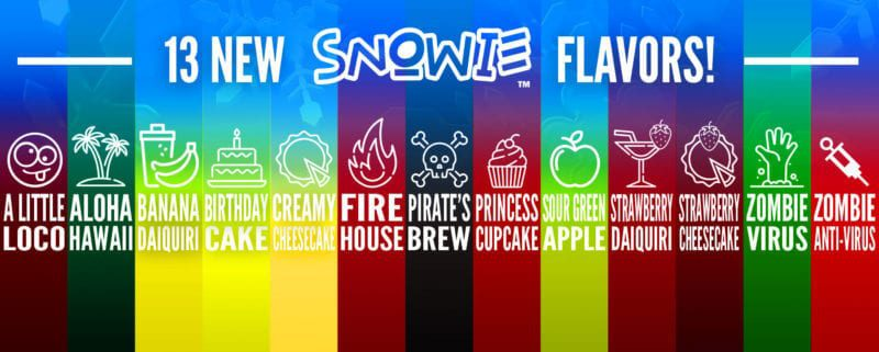 13 New Shaved Ice Flavors!