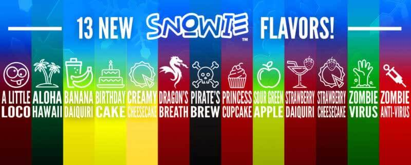 13 New Snowie Shaved Ice Flavors