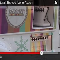 Snowie Naturals - Natural Shaved Ice Flavors In Action