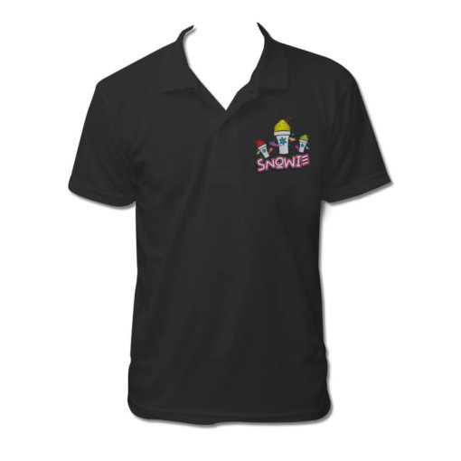 Snowie Black Polo Shirt