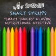 Smart Syrups - Snowie Flavor Nutritional Additive for Smart Snacks in Schools