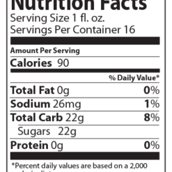 Ready-To-Use Flavor Nutritional Facts