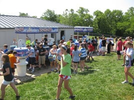 Snowie Kiosks at Soccer event
